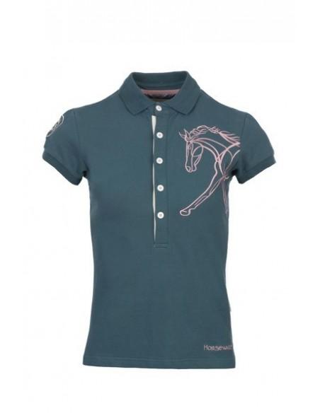 Horseware Flamboro Polo Shirt moroccan blue back