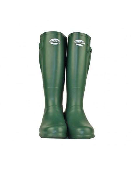 Rockfish Women's Tall Adjustable Matt Wellington green front