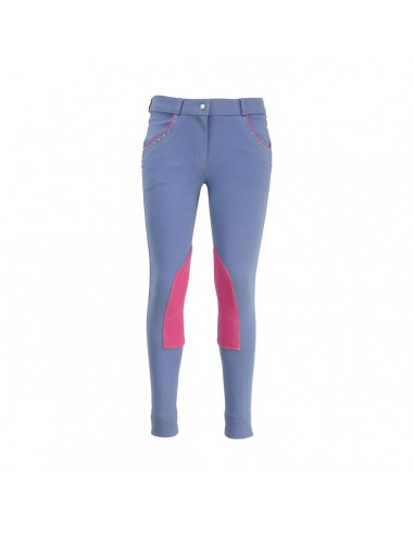 HyPERFORMANCE Darcy Childs Diamante Jodhpurs rasp blue front