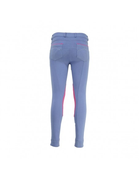 HyPERFORMANCE Darcy Childs Diamante Jodhpurs rasp blue back