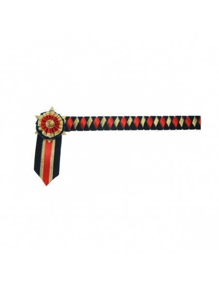 Showquest Boston Brow Band Navy/Red/Gold