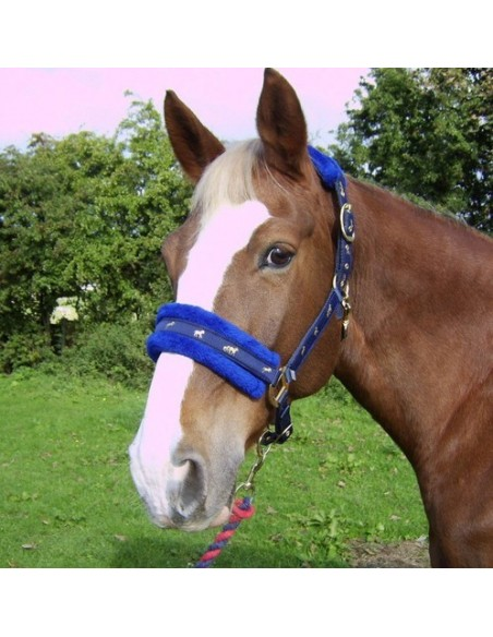 Fluffy Headcollar Royal Blue