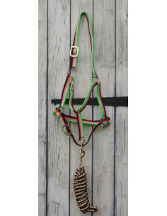 Texturised Head Collar and Lead Rope set