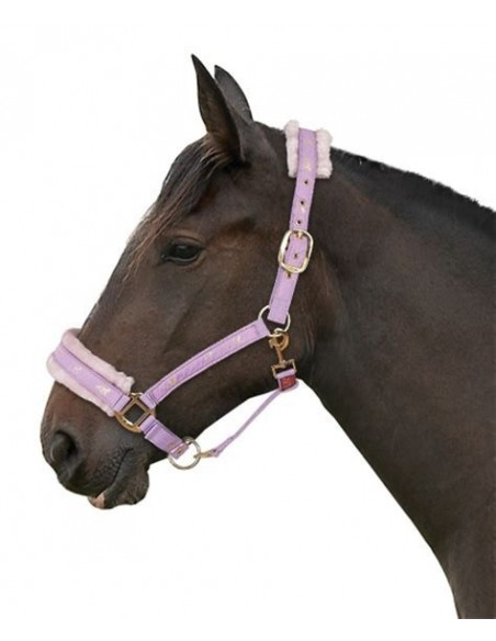 Fluffy Headcollar Black