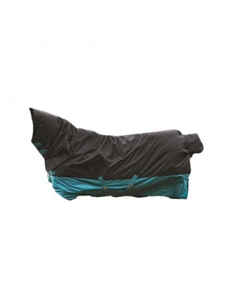 Horseware Amigo Mio One Piece Medium T/O 200g BLACK & TURQUOISE