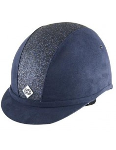Charles Owen YR8 Sparkly NAVY/NAVY BLING Riding Hat