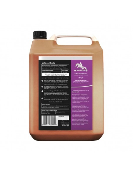 Equestrizone Apple Cider Vinegar with Garlic Back