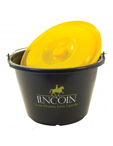 Lincoln 18 litre Black Bucket with Yellow Lid