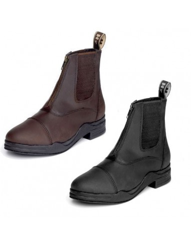 HyFootwear Adult Wax Leather Zip Boot