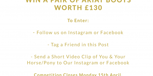 Win a Pair of Ariat Boots worth £130!